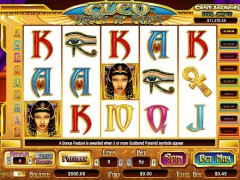Cleo Queen of Egypt slots-77.com CryptoLogic 1/5